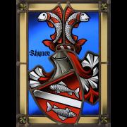 Familienwappen schattiert -Wappenscheibe -Glasmalerei-Bleiverglasung -Heraldik