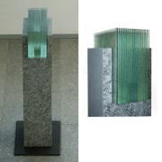Glaskunst – Gefasst – Peter Kuster Glas-Design -Glasskulptur Glas und Stein -Glaskunst -