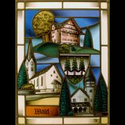 Wappenscheibe Wald – Glasmalerei -Bleiverglasung