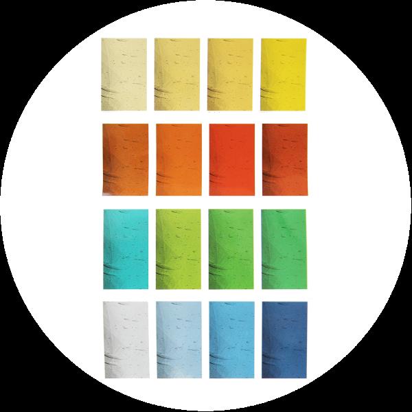 Arbeitstechnik Glasmalerei – Glasauswahl