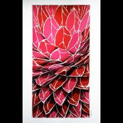 Glaskunst – Goldrosa – Peter Kuster Glas-Design Glasmalerei-Glaskunst